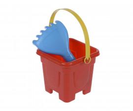 Комплект кофа за пясък с лопатка/гребло 12х12см.