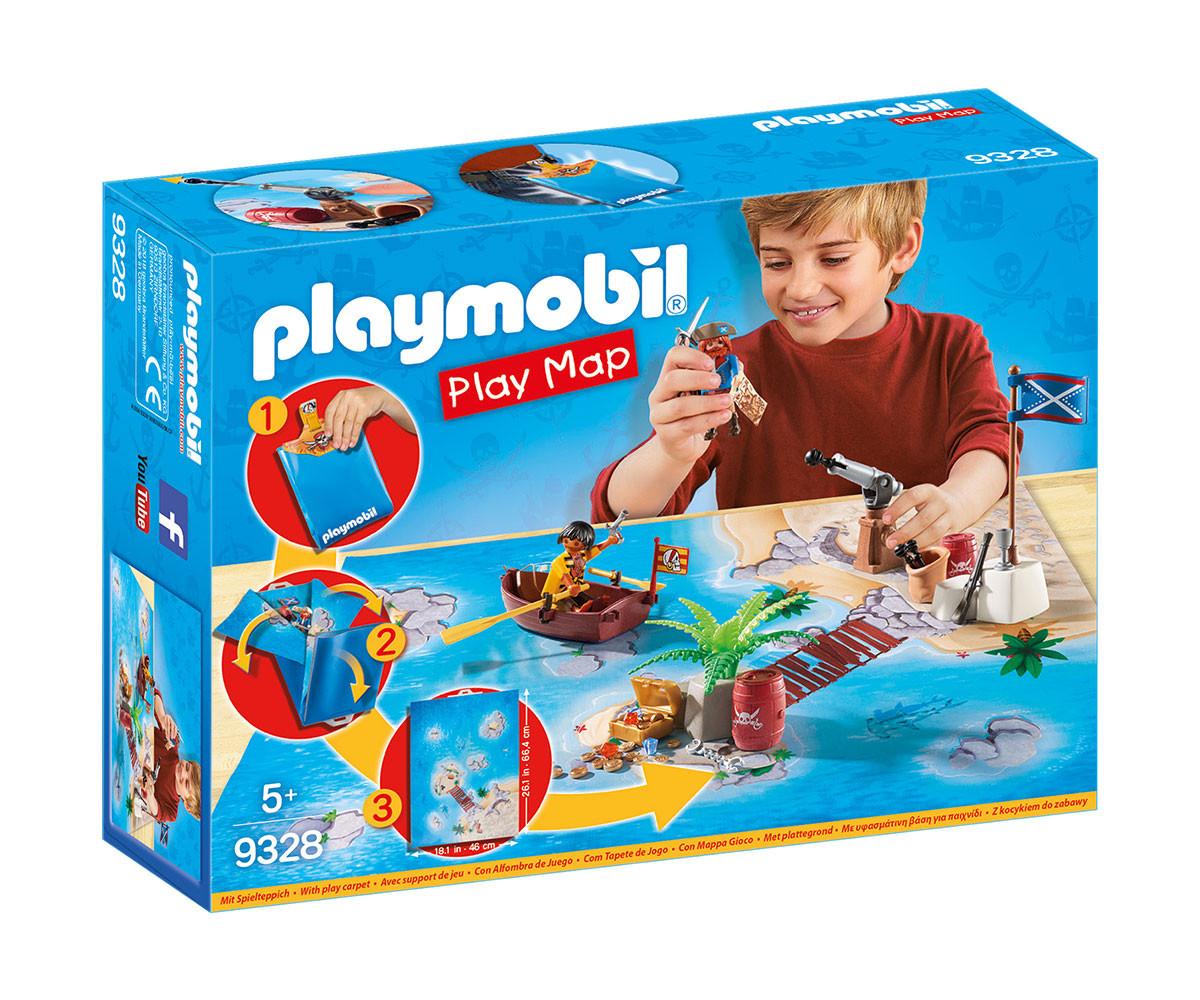 Детска играчка - Playmobil - Преносим комплект Пиратско приключение