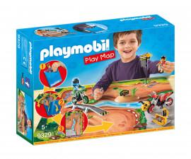 Детска играчка - Playmobil - Преносим комплект Мотокрос