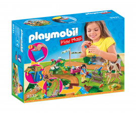 Детска играчка - Playmobil - Преносим комплект Пони разходка