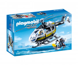 Детска играчка - Playmobil - Хеликоптер на специалните части