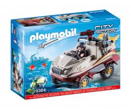 Детска играчка - Playmobil - Джип амфибия на специалните части