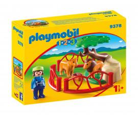 Детска играчка - Playmobil - Клетка с лъвове