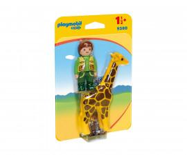 Детска играчка - Playmobil - Пазач с жираф