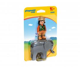 Детска играчка - Playmobil - Пазач със слон