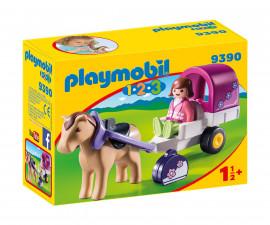 Детска играчка - Playmobil - Каляска с коне