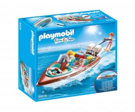 Детска играчка - Playmobil - Високоскоростна лодка с мотор