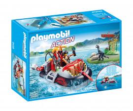 Детска играчка - Playmobil - Лодка амфибия с мотор
