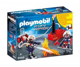 Детска играчка - Playmobil - Пожарникари с помпа за вода