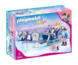 Детска играчка - Playmobil - Шейна с кралската двойка