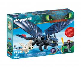 Детска играчка - Playmobil - Хълцук и Беззъб
