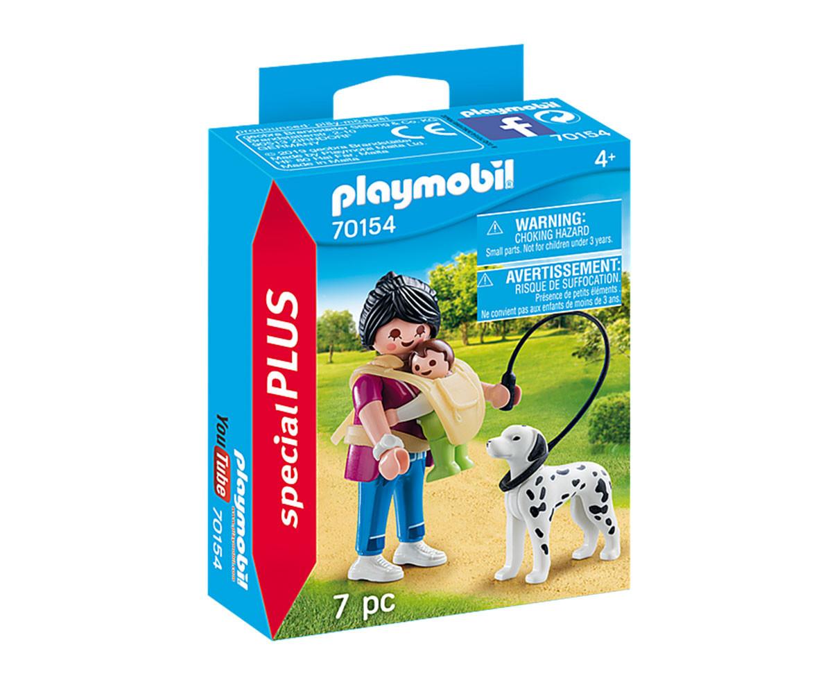 Конструктор за деца Майка с бебе и куче Playmobil 70154