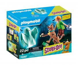 Конструктор за деца Скуби Ду: Скуби и Шаги с призрак Playmobil 70287
