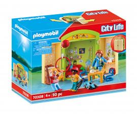 Детски конструктор Playmobil - 70308, серия City Life