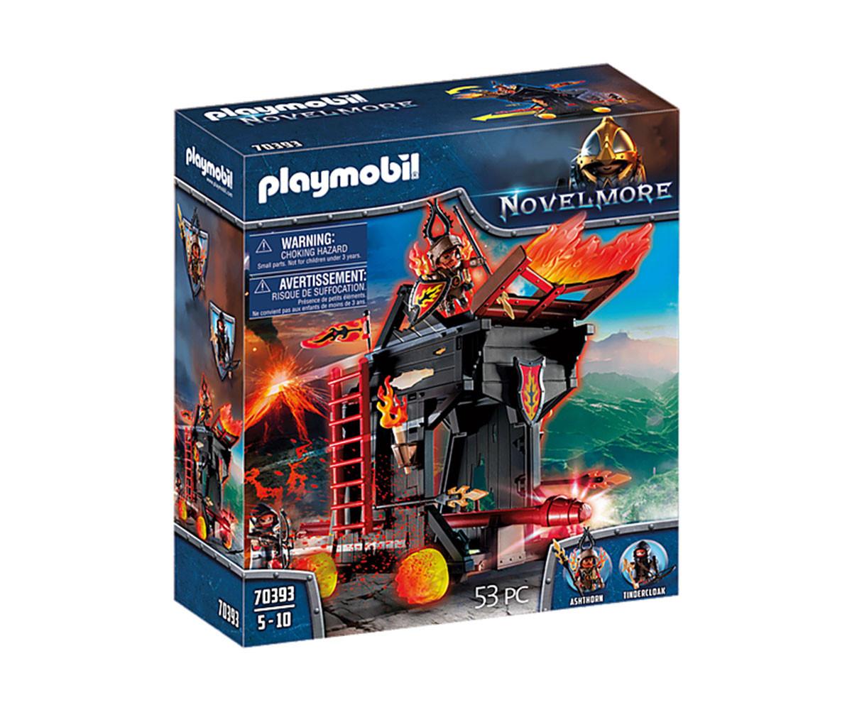 Конструктор за деца Рицарите от Бърнам: Огнен таран Playmobil 70393