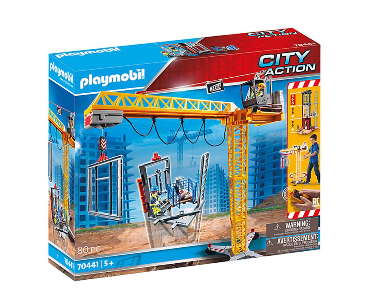Конструктор за деца Кран със строителна кула Playmobil 70441