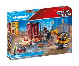 Конструктор за деца Мини екскаватор със строителна площадка Playmobil 70443