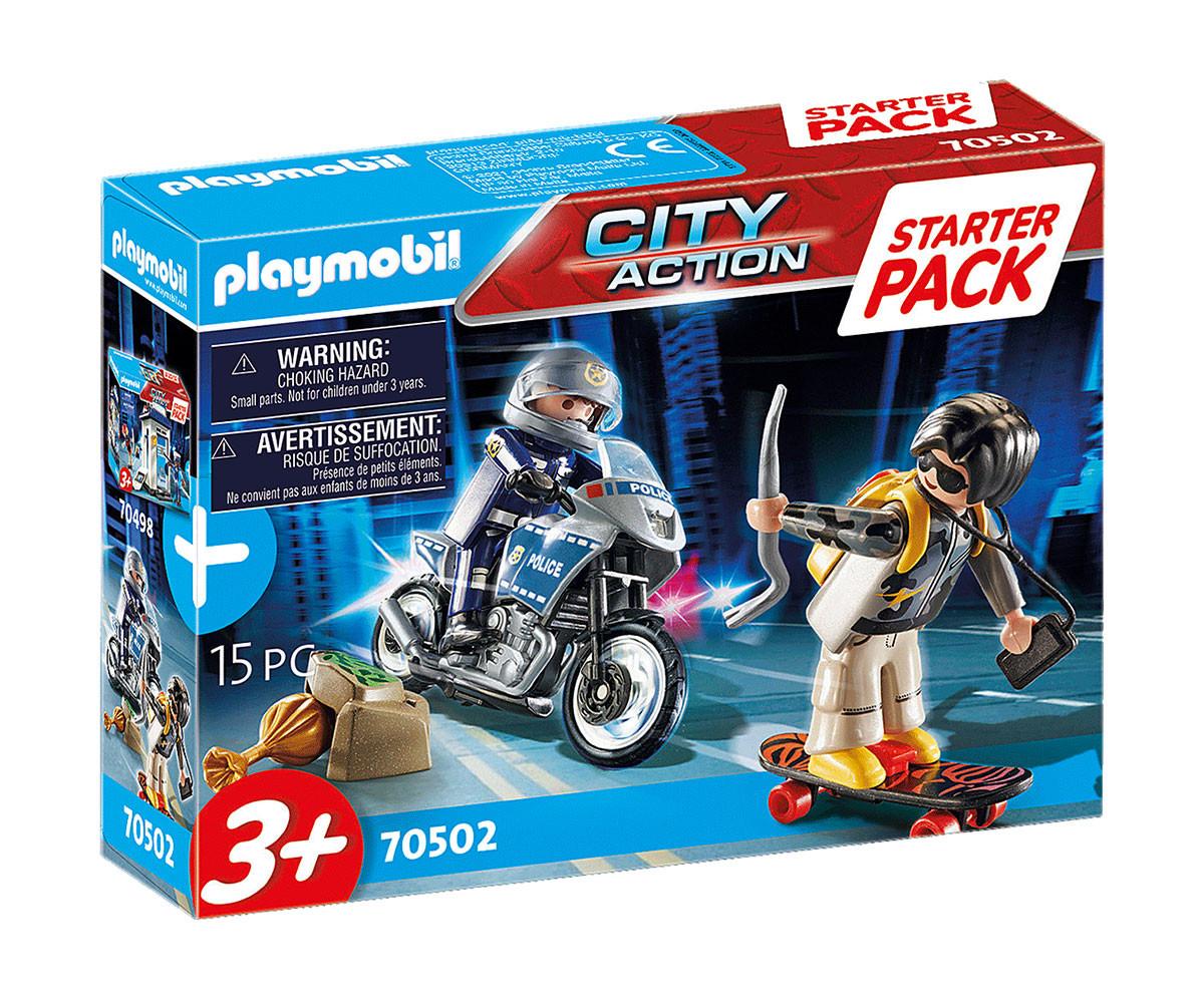 Детски Конструктор - Плеймобил 70502 - Стартов Пакет Полицейско Преследване С Мотор