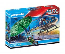 Детски Конструктор - Плеймобил 70569 - Полицейско Преследване С Хеликоптер
