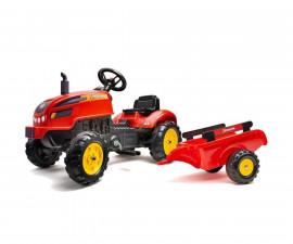 Детски трактор за каране с педали Falk X, с ремарке