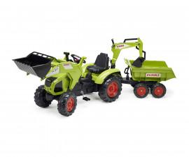 Детски трактор за каране с педали Falk Claas Maxi , с ремарке