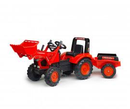 Детски трактор за каране с педали Falk Kubota , с ремарке