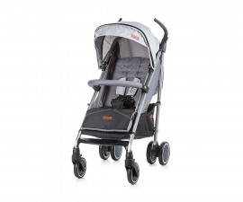 Лятна бебешка количка Chipolino Ексте, графит 0+ LKEX01702GR
