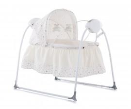 Легла и кошари Chipolino Продуктът е предназначен за новородени бебета и много малки деца на възраст от 0 до около 6 месеца;Изключително удобно бебешко легълце, което може да се откача от рамката на люлката и да се ползва отделно;Мрежа против насекоми, ко