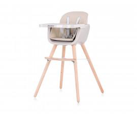 Столче за хранене с дървени регулируеми крака Чиполино Woody Mocca 2 in 1 Колекция 2020