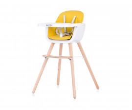 Столче за хранене с дървени регулируеми крака Чиполино Woody yellow 2 in 1 Колекция 2020