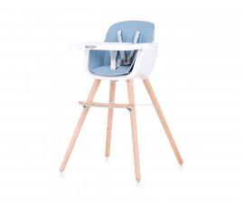Столче за хранене с дървени регулируеми крака Чиполино Woody синьо 2 in 1 Колекция 2020