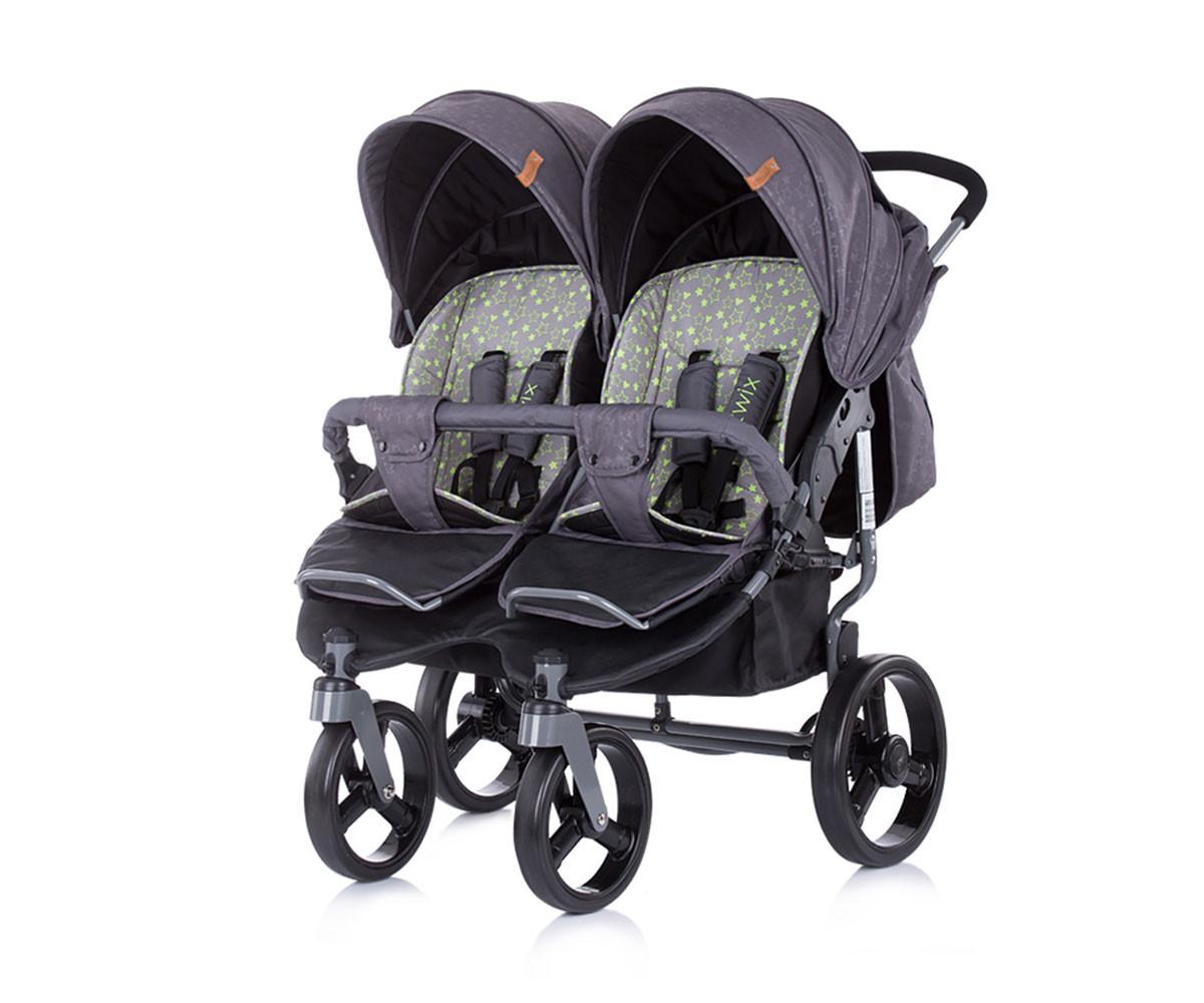 Детска двойна количка Чиполино Twix graphite Колекция 2020