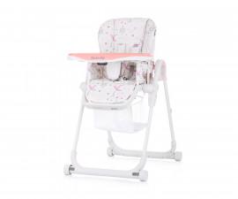 Сгъваемо столче за хранене с колелца Чиполино Master chef в розово Колекция 2020