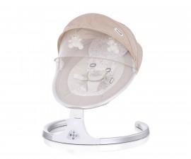 Детска електрическа бебешка люлка-шезлонг Chipolino Каприз, мока