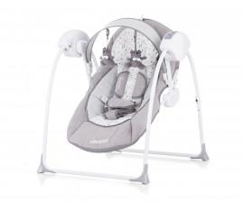 Детска електрическа бебешка люлка Chipolino Люш-люш, сива