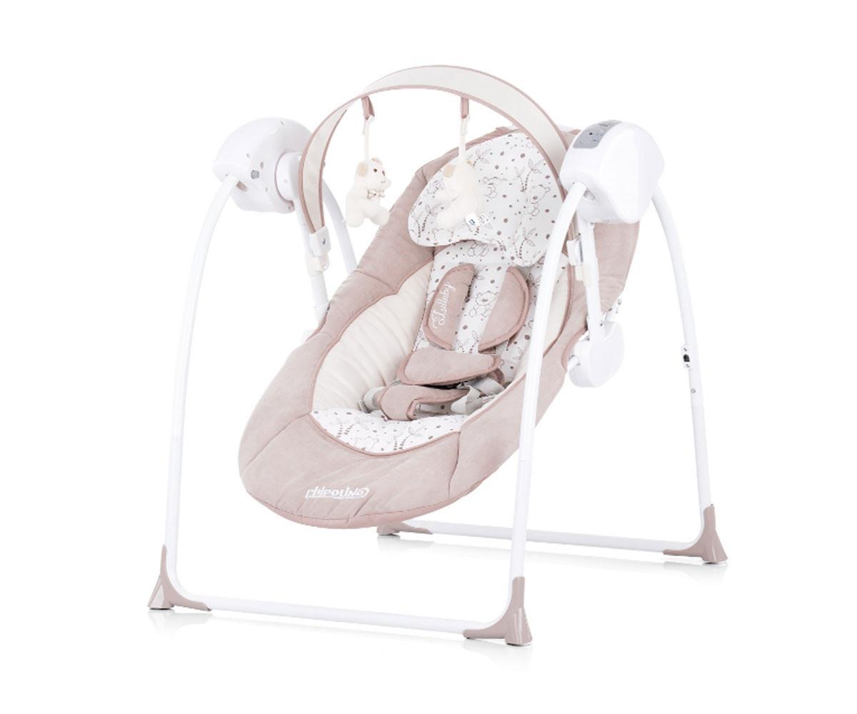 Детска електрическа бебешка люлка Chipolino Люш-люш, мока