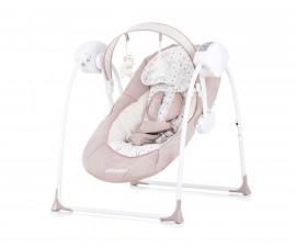 Електрическа бебешка люлка за новородено до 9 кг Chipolino Люш-люш, мока LSHLB0202MO