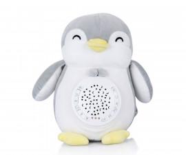 Детска плюшена играчка с проектор и музика Chipolino, пингвин