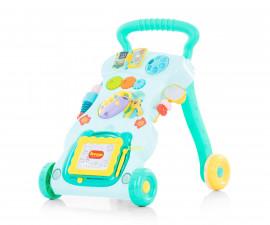 Музикална играчка на колела за прохождане на бебета Chipolino Funny, минт