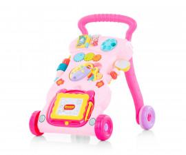 Музикална играчка на колела за прохождане на бебета Chipolino Funny, розова