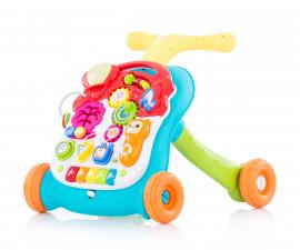 Музикална играчка на колела за прохождане на бебета и масичка за игра 2в1 Chipolino Мулти, зелена