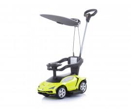 Кола за каране на деца с дръжка и сенник Chipolino Lamborghini, зелена