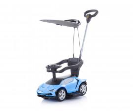 Кола за каране на деца с дръжка и сенник Chipolino Lamborghini, синя