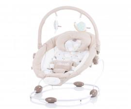 Музикален шезлонг за новородено до 9 кг Chipolino Сиеста, бежов SHES01904BE