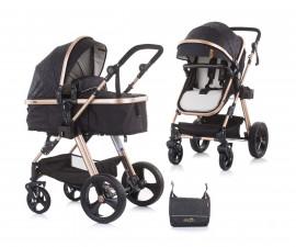 Комбинирана детска количка с трансформираща седалка до 22кг Chipolino Хавана, карбон