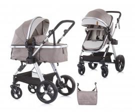 Комбинирана бебешка количка с трансформираща седалка до 22кг Chipolino Хавана, лате KKHA02103LA