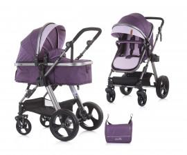 Комбинирана бебешка количка с трансформираща седалка до 22кг Chipolino Хавана, далия KKHA02104DH
