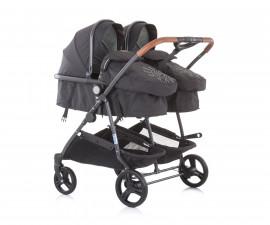 Бебешки колички за близнаци до 15кг Chipolino Дуо Смарт, мъгла