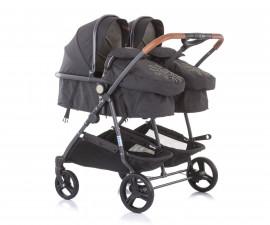 Бебешки колички за близнаци до 15кг Chipolino Дуо Смарт, ванилия