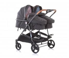 Бебешки колички за близнаци до 15кг Chipolino Дуо Смарт, синьо/розово